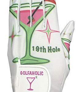 Giggle Golf Women's Golf Glove (Small, Worn On Left Hand, 19th Hole)