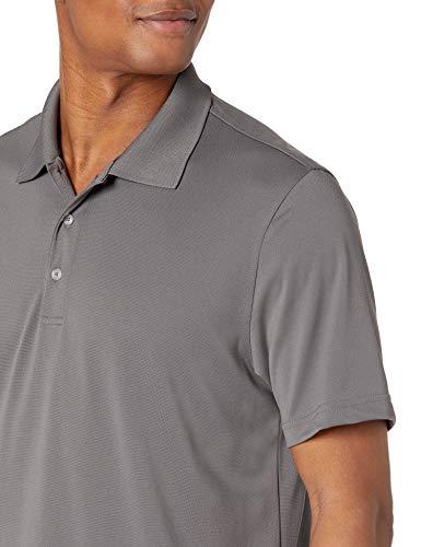 Amazon Essentials Men's Regular-Fit Quick-Dry Golf Polo Shirt, Medium Grey, X-Large