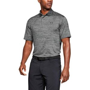 Under Armour Men's Performance 2.0 Golf Polo, Steel (035)/Black, Large