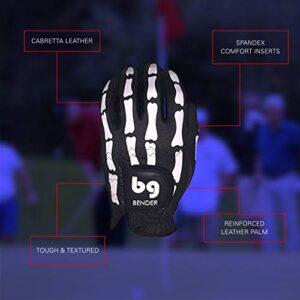 Bender Gloves Mesh Golf Gloves Men, Cabretta Leather, Worn on Right Hand (Digital Camo, Small)