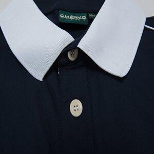 Chervo Men's Aella Golf Shirts, Trieste Navy, Small