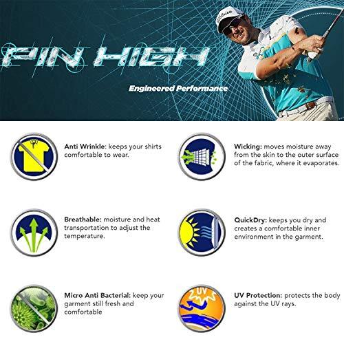 Pin High Martin-A Dry-Fit High Performance Golf Polo Men's Shirt White/Navy – XXL