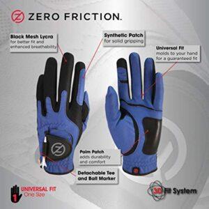 Zero Friction Men's Golf Glove, Left Hand, One Size, Blue