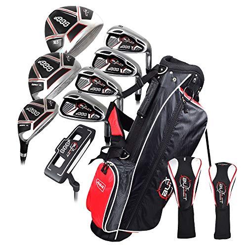 Bullet Golf- .444 Complete Set with Bag Black/Red Uniflex