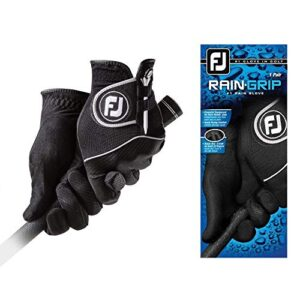 FootJoy Men's RainGrip Pair Golf Glove Black X-Large, Pair